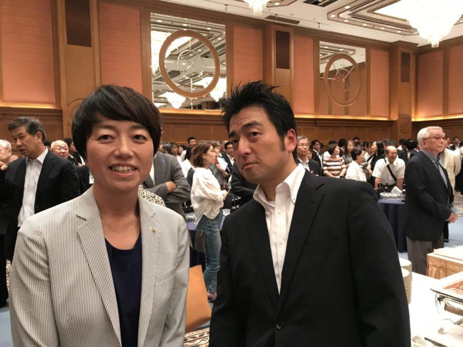 齋藤参議院議員の懇親会にて