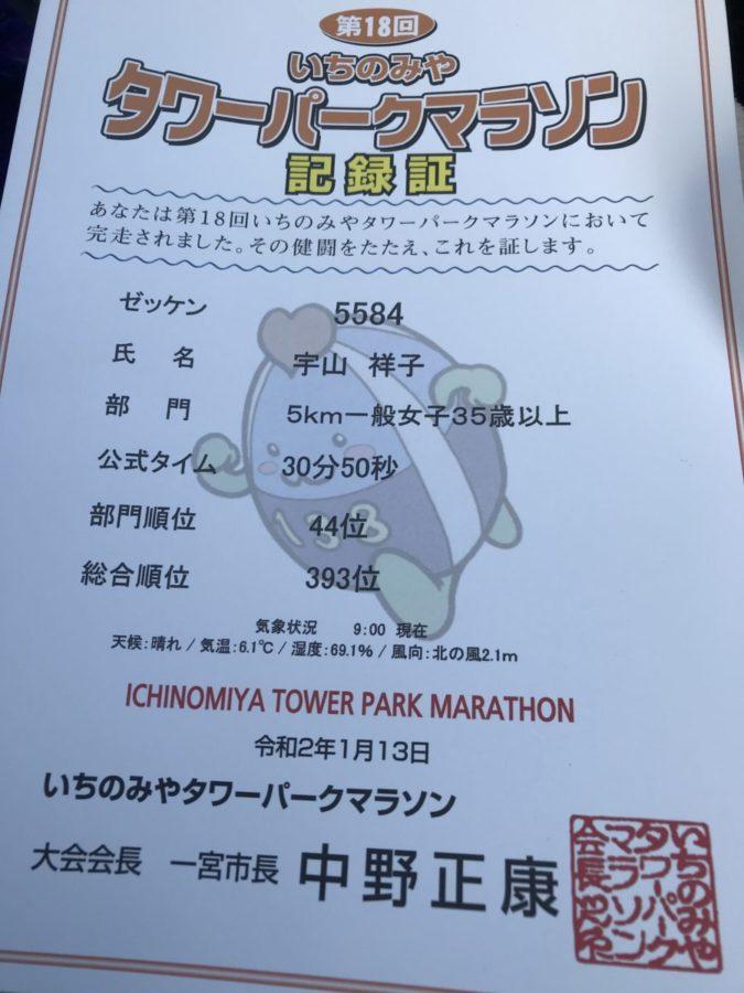 いちのみやタワーパークマラソン開催