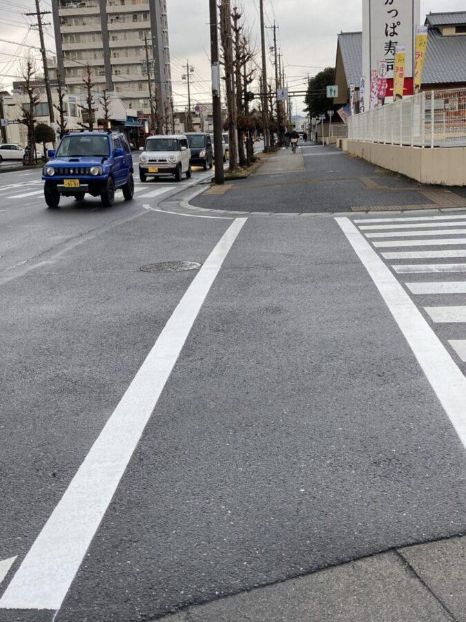 交差点での危険箇所